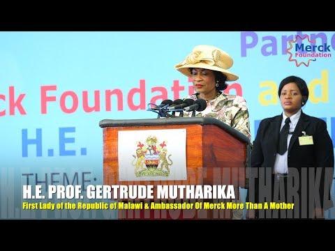 H.E. PROF. GERTRUDE MUTHARIKA Speech @ Malawi Health Media Training.