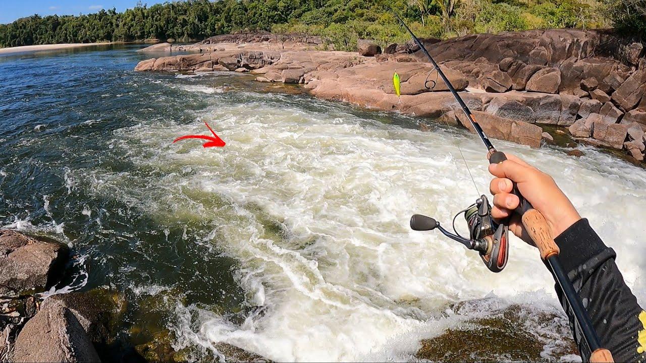 ESSAS PÕEM MEDO!!! SE ESCONDEM EMBAIXO DA ESPUMA SÓ ESPERANDO ALGO PASSAR. Pescaria.