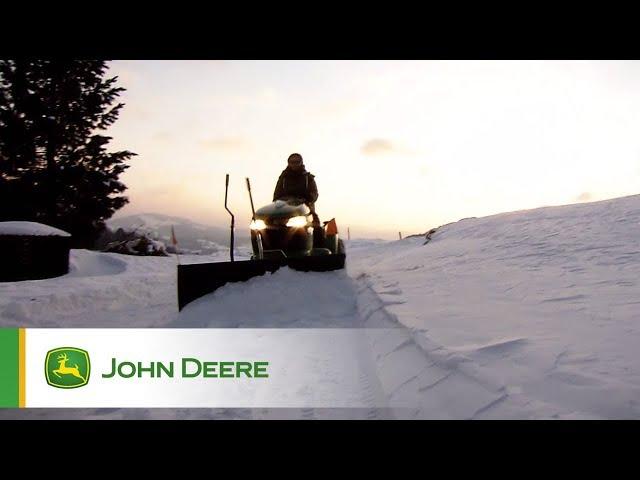 Rasentraktoren - Einatz im Schnee