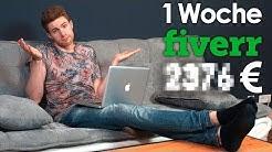 1 Woche auf FIVERR arbeiten & ___€ von ZUHAUSE verdient | Selbstexperiment