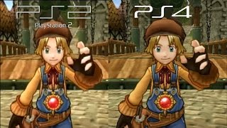 Dark Chronicle (Dark Cloud 2) PS2 vs PS4 Graphics Comparison