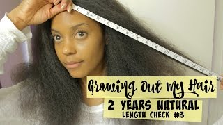 {81} Growing Out My Hair | Length Check 3 + Blow Out | 2 Years Natural + 4 Years Post Relaxer