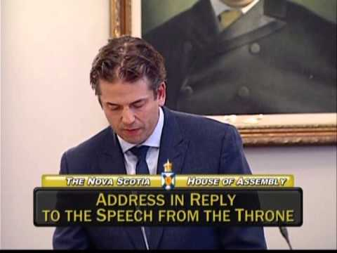 MLA Joachim Stroink reads Address in Reply to the Speech from the Throne 21/10/14