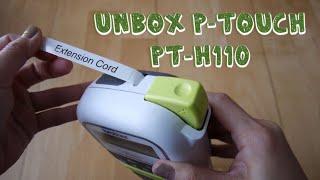 Unbox P-touch PT-H110 label maker