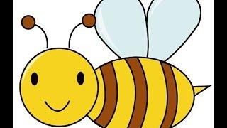 How to draw a bee - Dạy bé vẽ hình con ong vàng ngộ nghĩnh - 6 bước cơ bản vẽ con ong