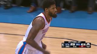 Thunder's Paul George Drops 36 points and 8 Threes in Game 1 vs. Utah