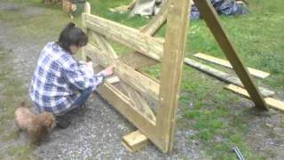14ft Double Wood Gate
