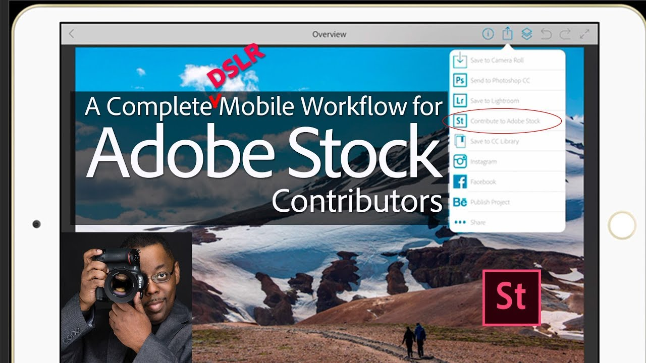 A Complete Mobile Workflow for Adobe Stock Contributors - YouTube