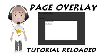 Web Page Overlay Tutorial Reloaded CSS Javascript Transparent Cover