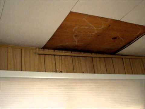 Ceiling Repair In A Mobile Home Youtube