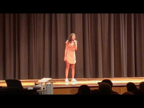 Kayla singing I Have Nothing - Whitney Houston cover at the Central Middle school talent show