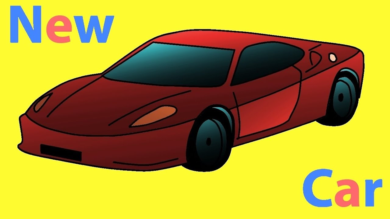Sports Car In Minutes Very Easy How To Draw A Car Racing