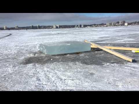 frozen lake , canada , ontario