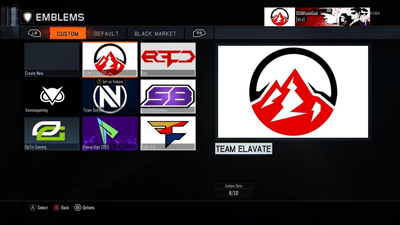 Black Ops 3 Team Elevate Logo Tutorial