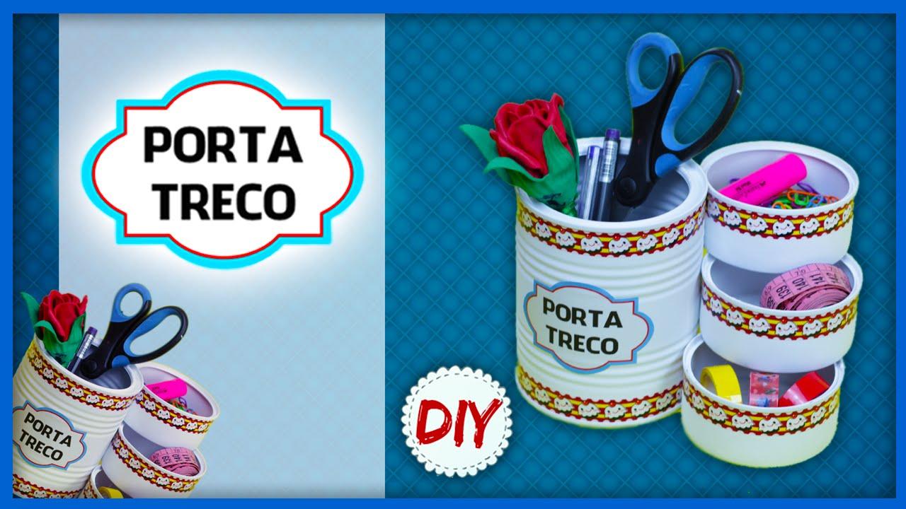 Artesanato Folclore Da Região Sudeste ~ DIY Artesanato Reciclado Porta Treco Usando Latas YouTube