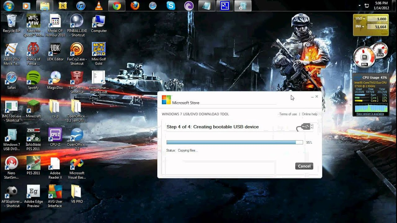 how to create windows 7 usb