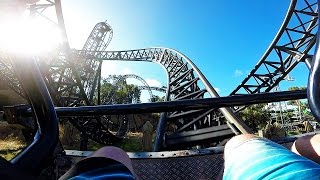 Abyss Roller Coaster POV, Adventure World Perth with Stabilized GoPro Hero 5
