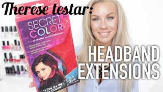 Therese testar: HEADBAND EXTENSIONS