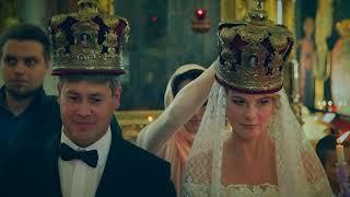 Красивое венчание в Князь-Владимирском соборе и небольшая фотосессия