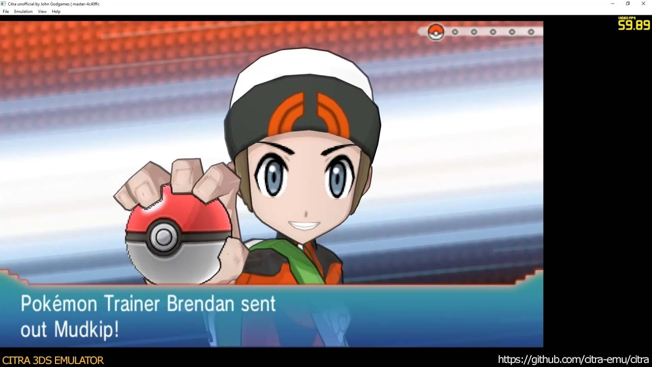 Citra 3DS Emulator - Pokémon Alpha Sapphire ingame 1080p