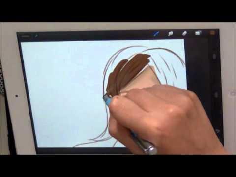 สอนวาดการ์ตูนด้วย ipad app procreate