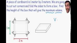 Optimization - Maximum Volume Of Box