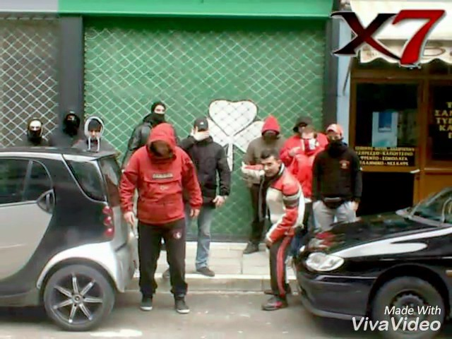 Gate 7 Hooligans At Play Olympiakos Piraeus Greek Hools Youtube