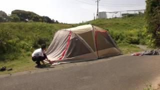 ドッペルギャンガーの大型2ルームテントを設営してみました!