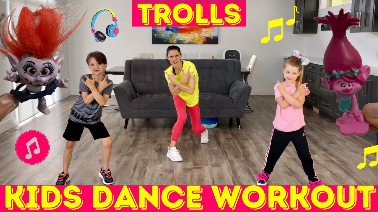 Kids Workout Dance | TROLLS Dance Party Workout For Kids (THE MOST FUN EVER!)