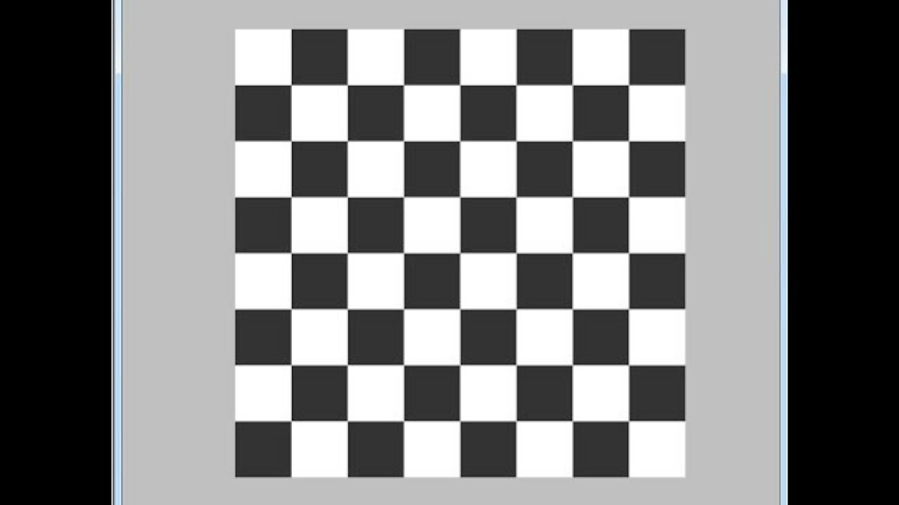 Java Graphics Tutorial - How To Draw Chess Board In Java [ With Source Code  ] NetBeans