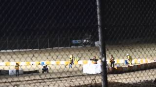 Tony Stewart Sprint Car Crash Ohsweken Speedway July 29, 2013