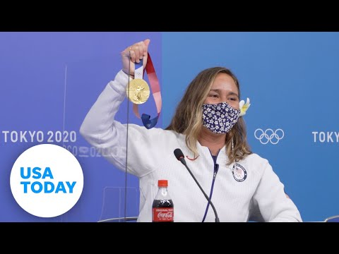 Carissa Moore: Full gold medal press conference, surfing | USA TODAY