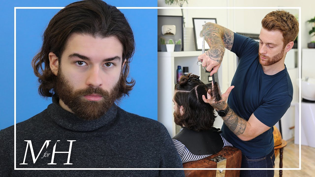 Men S Long Haircut And Hairstyle How To Cut Style Long Hair Youtube