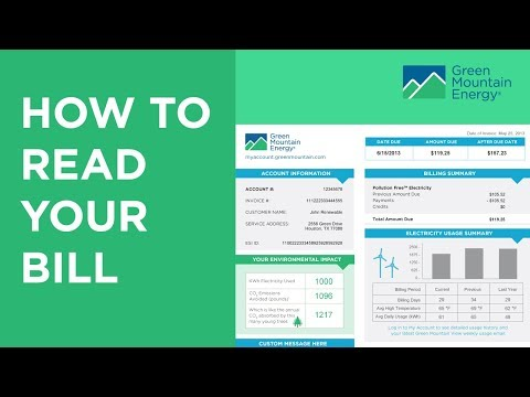 How To Read Your Green Mountain Energy Bill