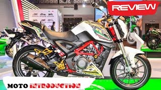 Detail Benelli TNT 25 with accessories at the Auto Expo 2016