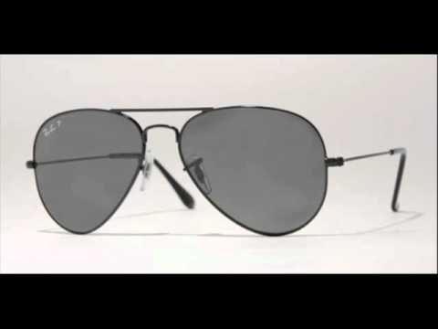 9ca529d816 Ray Ban Aviator Polarized Black RB 3025 002 58 Sunglasses - YouTube