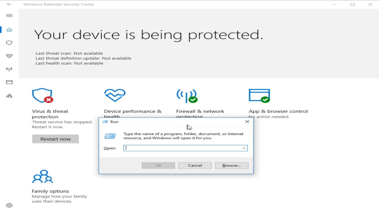 Solved Microsoft Defender Threat Service Has Stopped