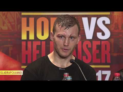 Post Fight Interview - Jeff Horn defends WBO welterweight title with TKO of Gary Corcoran