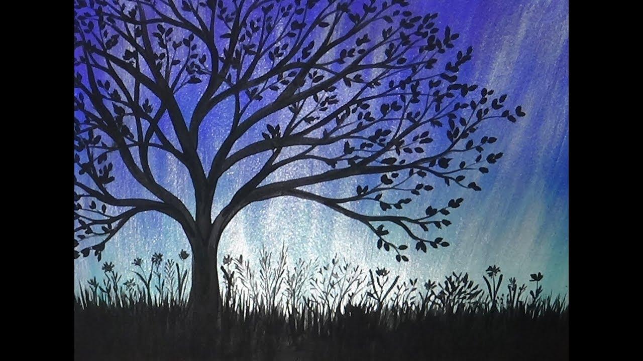Paintings Of Trees Silhouette | www.pixshark.com - Images ...