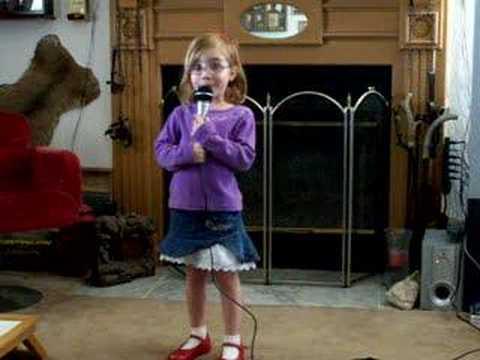 4 year old singing Blake Shelton The More I Drink