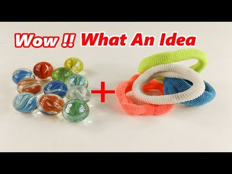 Best out of waste crafts idea from Hair rubber bands | DIY arts and crafts |Best out of waste Marble