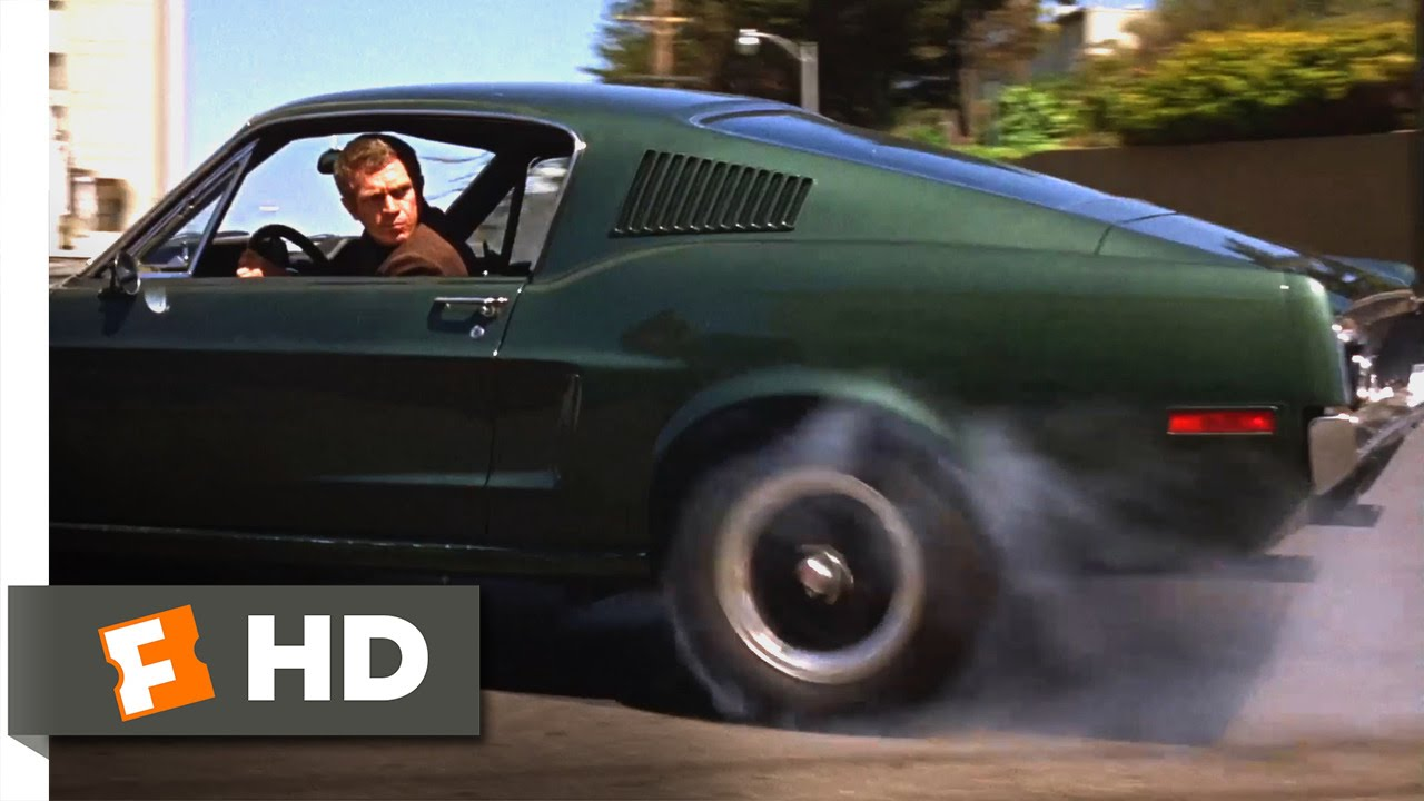 Bullitt (1968) - San Francisco Car Chase Scene