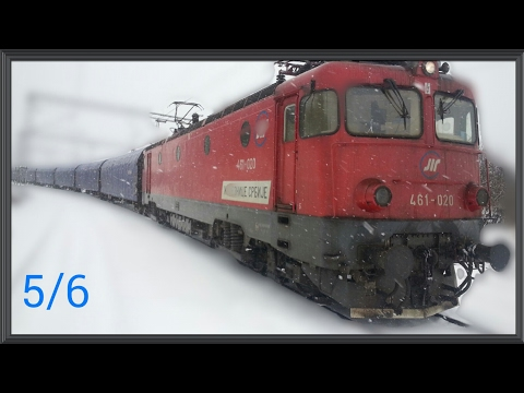 Train cab wiev Serbia - Freight train on the section from Mala Krsna to Ostruznica 5/6