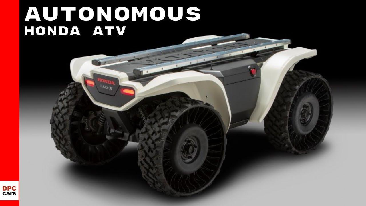 honda 3e d18 autonomous self driving atv youtube