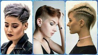 Nowoczesne 🌹 pomysły na fryzury damskie z wygolonym bokiem 2019