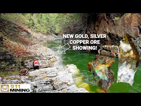Gold Mines, Gold Ore & Mineralized Quartz Veins On A River Canyon!