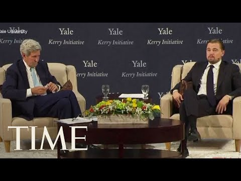 Leonardo DiCaprio Talks With John Kerry About America's Future & Climate Change At Yale  TIME