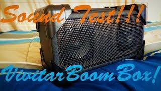 vivitar v143bt bluetooth retro boom box speaker sound test