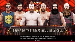 WWE 2K19 PC Gameplay - 6-Man Triple Threat Tornado Tag Hell in a Cell [60FPS][FullHD]