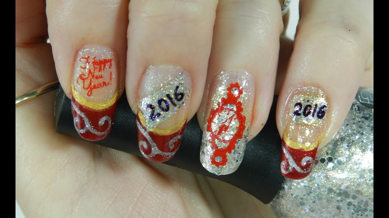 Nail Art Design Happy New Years 2016 Collaboration Youtube